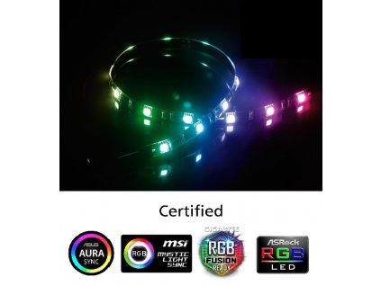 AKASA - LED páska-magnetická - multicolor Vegas MB