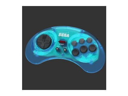 Sega - Retro-Bit SEGA Mega Drive 6-button Pad (Crystal Blue, 2.4GHz)