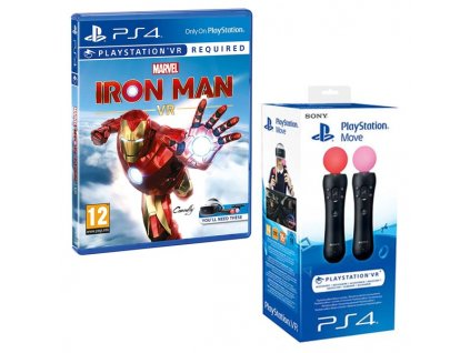 PS4 Marvel's Iron Man VR + Move TwinPack