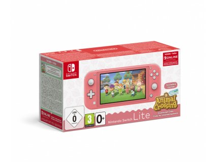 Nintendo Switch Lite Coral + ACNH + NSO 3month